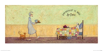 Breakfast in Bed for Doris-artwork-Tessa Mae's with Attitude | Gifts and Homewares | Mapua NZ