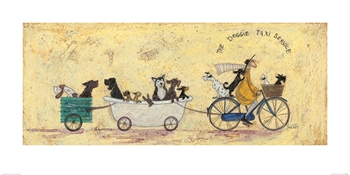 Doggie Taxi Service-artwork-Tessa Mae's with Attitude | Gifts and Homewares | Mapua NZ