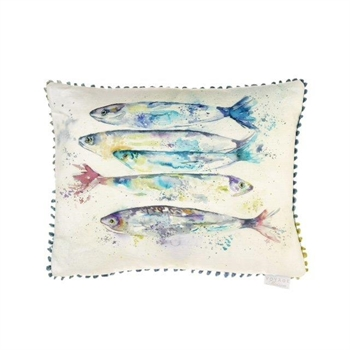 Sardines Linen Cushion-home-decor-Tessa Mae's with Attitude | Gifts and Homewares | Mapua NZ