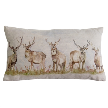 Moorland Stag Linen Cushion-home-decor-Tessa Mae's with Attitude | Gifts and Homewares | Mapua NZ