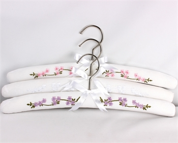 Embroidered Hanger Garden White-home-decor-Tessa Mae's with Attitude | Gifts and Homewares | Mapua NZ