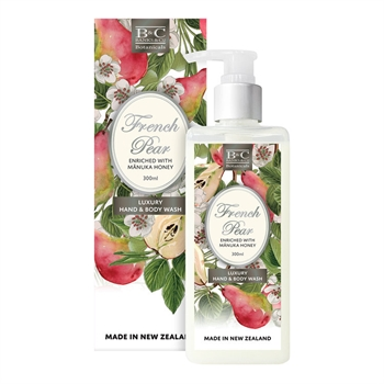 French Pear Wash 300ml-nz-made-Tessa Mae's with Attitude | Gifts and Homewares | Mapua NZ