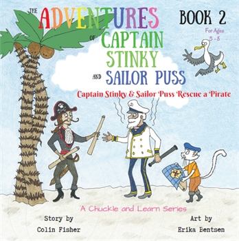 Captain Stinky & Sailor Puss Rescue a Pirate Book-gift-ideas-Tessa Mae's with Attitude | Gifts and Homewares | Mapua NZ