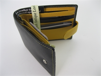 Wallet Black/Ferrari Yellow -gift-ideas-Tessa Mae's with Attitude | Gifts and Homewares | Mapua NZ
