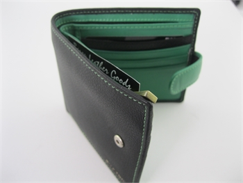 Wallet Black/Lamborghini Green -gift-ideas-Tessa Mae's with Attitude | Gifts and Homewares | Mapua NZ