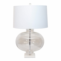 Marble Base Glass Lamp