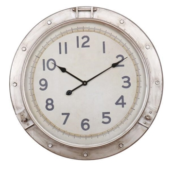 Nickel Nautical Clock-home-decor-Tessa Mae's with Attitude | Gifts and Homewares | Mapua NZ