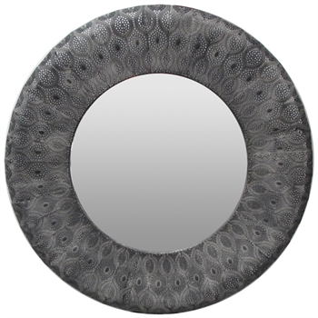 Panama Mirror Black Grey-home-decor-Tessa Mae's with Attitude | Gifts and Homewares | Mapua NZ
