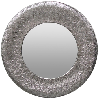 Panama Mirror Silver-home-decor-Tessa Mae's with Attitude | Gifts and Homewares | Mapua NZ
