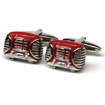 Red Retro Radio Cufflinks-gift-ideas-Tessa Mae's with Attitude | Gifts and Homewares | Mapua NZ