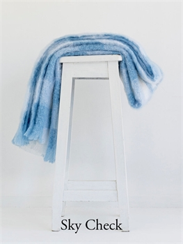 NZ Mohair Throw - Blue and White Check-nz-made-Tessa Mae's with Attitude | Gifts and Homewares | Mapua NZ