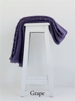 NZ Mohair Throw - Grape-nz-made-Tessa Mae's with Attitude | Gifts and Homewares | Mapua NZ