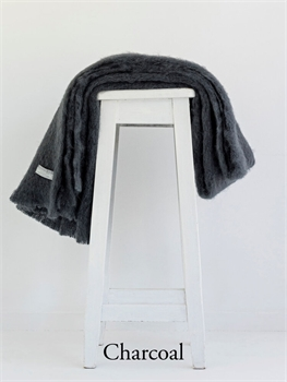 NZ Mohair Throw - Charcoal-nz-made-Tessa Mae's with Attitude | Gifts and Homewares | Mapua NZ