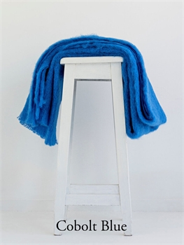 NZ Mohair Throw - Cobalt Blue-nz-made-Tessa Mae's with Attitude | Gifts and Homewares | Mapua NZ