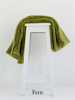 NZ Mohair Throw - Fern-nz-made-Tessa Mae's with Attitude | Gifts and Homewares | Mapua NZ