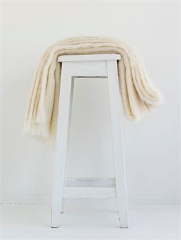 NZ Mohair Throw - Cream -nz-made-Tessa Mae's with Attitude | Gifts and Homewares | Mapua NZ