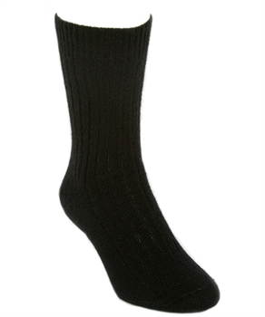 Casual Rib Socks Black Large-nz-made-Tessa Mae's with Attitude | Gifts and Homewares | Mapua NZ