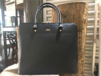 Laptop Leather Bag Black-bags-Tessa Mae's with Attitude | Gifts and Homewares | Mapua NZ
