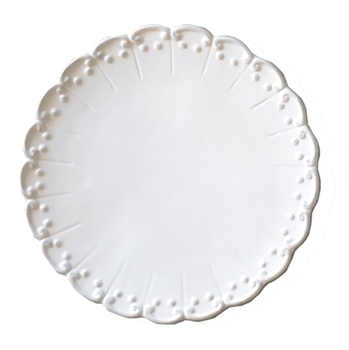 Antoinette White China Dinner Plate-kitchenware-Tessa Mae's with Attitude | Gifts and Homewares | Mapua NZ