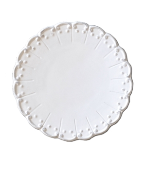 Antoinette White China Lunch Plate-kitchenware-Tessa Mae's with Attitude | Gifts and Homewares | Mapua NZ