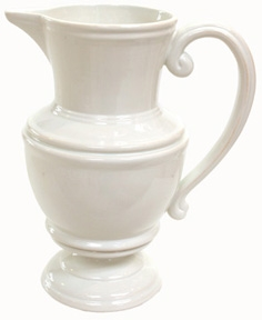 White Pitcher-home-decor-Tessa Mae's with Attitude | Gifts and Homewares | Mapua NZ