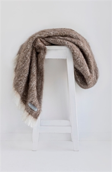 NZ Alpaca Throw - Pumice-Tessa Mae's with Attitude | Gifts and Homewares | Mapua NZ