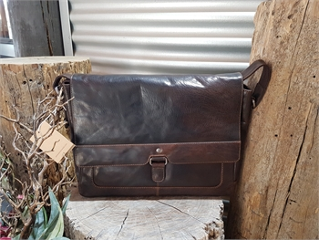 Jacob Leather Brown Satchel Bag-bags-Tessa Mae's with Attitude | Gifts and Homewares | Mapua NZ