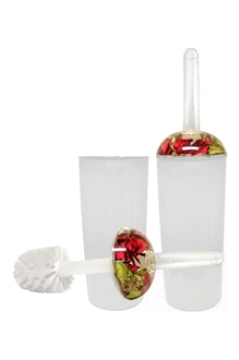 Rose Acrylic Toilet Brush Holder-home-decor-Tessa Mae's with Attitude | Gifts and Homewares | Mapua NZ