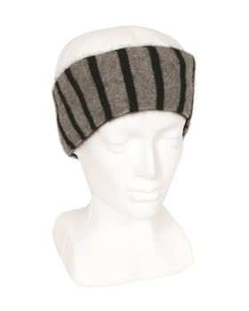 Reversible Plain/Stripe Headband - Black (Silver)-nz-made-Tessa Mae's with Attitude | Gifts and Homewares | Mapua NZ