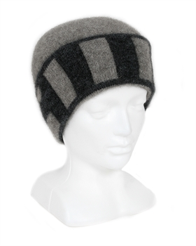 Directional Stripe Beanie Silver-nz-made-Tessa Mae's with Attitude | Gifts and Homewares | Mapua NZ