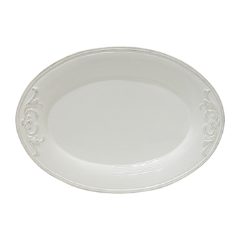 White Embossed Platter-kitchenware-Tessa Mae's with Attitude | Gifts and Homewares | Mapua NZ