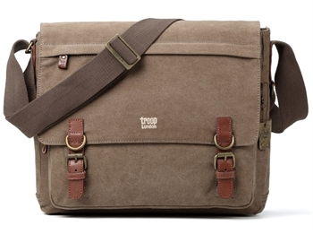 Satchel Bag Canvas Brown-gift-ideas-Tessa Mae's with Attitude | Gifts and Homewares | Mapua NZ