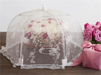 Food Tent White Organza-gift-ideas-Tessa Mae's with Attitude | Gifts and Homewares | Mapua NZ