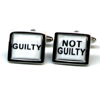 Guilty Not Guilty Cufflinks-gift-ideas-Tessa Mae's with Attitude | Gifts and Homewares | Mapua NZ