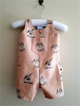 Wrendale 0-3 mth Jumpsuit Coral Bunny-gift-ideas-Tessa Mae's with Attitude | Gifts and Homewares | Mapua NZ