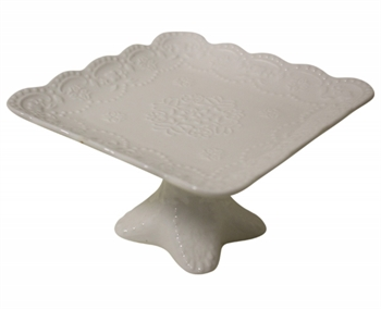 Standing Plate Scallop Square-kitchenware-Tessa Mae's with Attitude | Gifts and Homewares | Mapua NZ