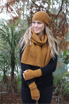 Opito Cable Scarf - Gold-nz-made-Tessa Mae's with Attitude | Gifts and Homewares | Mapua NZ