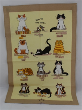 Linen Cat Tea Towel-gift-ideas-Tessa Mae's with Attitude | Gifts and Homewares | Mapua NZ